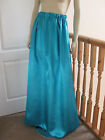 Victorian/Edwardian Long Satin Skirt ( Jade )