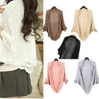 Fashion Update Ladies Crochet Knit Shawl  Hollow Out Shrug Top Sweater Fad