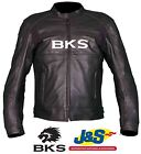 BKS FURY LEATHER JACKET MOTORCYCLE MOTORBIKE SPORTS RACING SCOOTER TRACK DAY