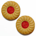 Set of 2 Jammy Dodger biscuit fridge magnets. Realistic novelty strong magnet.