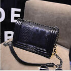 Girls Women Chain Shoulder Leather Messenger Crossbody Hobo Bag Handbag Purse