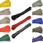 100ft 7 Strand Paracord 550 Parachute Lanyard Survival Rope Mil Spec TYPE III