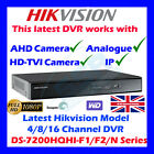 AHD DVR 4/8/16 CH HIKVISION TURBO HD TVI FULL 1080P P2P DIGITAL VIDEO RECORDER