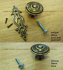 Antique Cupboard Knob Handles Chest Drawer Cabinet with and without Bracket