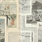 Rasch Newspaper Picture Collage Pattern Vintage French Typography Textured Roll