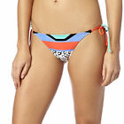 Fox Racing Stereo Womens Side Tie Bikini Bottom Flo Orange/Black