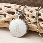 Clock Pendant Chain Personalized Engraved Necklace