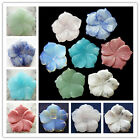 LX-296 Beautiful Carved Mixed Gemstone Flower Pendant Bead