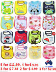 1 2 3 4 5 X Carter's Authentic High Quality 3 Layer Waterproof Bibs many designs