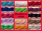 1mm Nylon Braided Shamballa Cord for Jewellery Making & Crafts - Great Colours