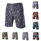 Stylish Men Linen Floral Pattern Shorts Pants Trousers Casual  Beach Trousers