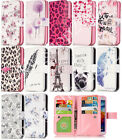 Hot Cute Painted Leather Flip Wallet Multi-Card Slots Case Cover for Cell Phones