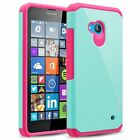 Nokia Lumia 640 Case, Hard Impact Dual Layer Shockproof Bumper Case