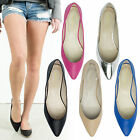 AnnaKastle Womens Ladies Pointed Toe Solid Flat Shoes US 5 6 7 8