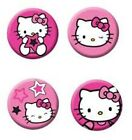 Hello Kitty Star Party - 4 Pin Badges - Birthday - FREE POSTAGE IN UK