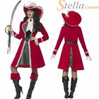 Ladies Deluxe Authentic Lady Captain Costume Pirate Hook Peter Pan Fancy Dress