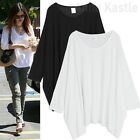 AnnaKastle New Womens Oversized Boxy Cape Top Tunic Summer T shirts size M - L