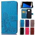 For Samsung Galaxy S7 Flip  PU 3D Stand Wallet Luxury Card Flower Cover Case