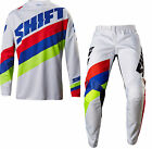 NEW 2017 SHIFT RACING WHITE LABEL TARMAC GEAR COMBO DIRT BIKE WHITE ALL SIZES