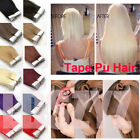 "16""-24"" PU Tape In Remy Skin Weft Ombre Hair Extensions 100% Remy Human Hair 20P"