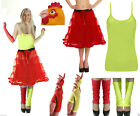 New Laides Fun Girl Costume Rock and Roll Chick Hen Party Fancy Dress Up Outfit