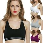 Women Seamless Racerback Bra Yoga Fitness Padded Sports Workout Tank Tops DZ88
