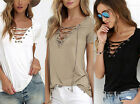Cotton  Womens  Tops  Fashion  Loose  Shirt Blouse  Pullover  Short Sleeve