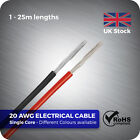 1 - 25 metre 20 AWG Flexible single core Electrical stranded Wire Cable DIY RC