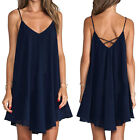 Summer Sexy Women Sleeveless Slim Party Dress Evening Cocktail Casual Mini Dress