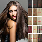 Tengda 7 PCS/SET 100% REAL CLIP IN HUMAN HAIR EXTENSIONS ALL COLOURS LENGTH