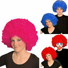 Ladies Girls Afro Wig Clown Disco Circus Costume Curly Hair Wig