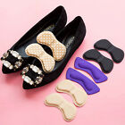 2Pcs Sticky Fabric Shoes Back Heel Inserts Insoles Pads Cushion Liner Grips fad