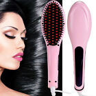 Anti Static Hair Straightener Comb Digital LCD Electric Nice Hair Brush AU Plug#