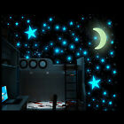 New 100x Star Moon Light in Night Art Stickers Glowing In The Dark Wall Sticker