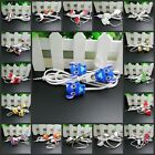 3.5mm DIY In-ear Headphone Earphone with Mic for iPhone HTC Samsung Mobile phone