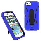 2in1 Shockproof Hybrid Rugged Skin Armor Case Cover For Apple iPhone 5 5S SE