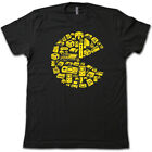 PAC-MAN Video Game Joystick Collage T-Shirt - 80's Retro Video Game Arcade Tee!