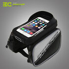 "BaseCamp MTB Bike Front Top Tube Double Bag Pouch for 6.0"" Inch Cellphone New"