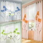 1PC Hee Grand Beatuiful Flower Printed Handmade Curtains 3 Colors 4 Size