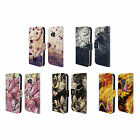 HEAD CASE DESIGNS FLORAL DRIPS LEATHER BOOK WALLET CASE COVER FOR HTC PHONES 1