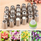 12x Russian Tulip Flower Cake Icing Piping Nozzles Decorating Tips Baking Tools
