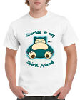 New Pokemon Snorlax Short Sleeve Novelty T-Shirt White
