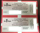 SIX FLAGS MAGIC MOUNTAIN - 2 Tickets - KID or ADULT! NO BLACKOUT DAYS!!!