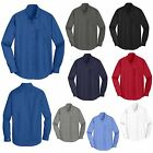 MENS LONG SLEEVE, STAIN,SOIL,WRINKLE RESISTANT SHIRT, POCKET, XS-M L XL 2X 3X 4X