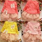 Toddler Baby Girl Princess Lace Party Kid Flower Dress Blouse Tulle clothes 1-5Y