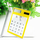 Solar Touch Screen LCD 8 Digit Electronic Transparent Calculator Portable Gadget