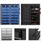 7 Tiers 2 Rows Doors Large Shoe Cabinet Rack Shoes Stand Storage Organizer M7U1