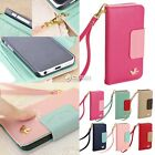 Hot Wallet Card Holder Synthetic Leather Phone Flip Case Cover for IPhone 5C DZ8