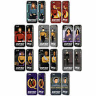 STAR TREK ICONIC CHARACTERS TNG BLACK BUMPER SLIDER CASE FOR APPLE iPHONE PHONES
