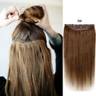 28inches  CLIP IN ONE PIECE 100% REMY HUMAN HAIR EXTENSIONS FULL HEAD 100G